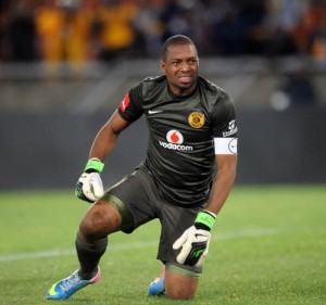 Itumeleng Khune of Kaizer Chiefs  during the Absa Premiership match between Kaizer Chiefs and Maritzburg United  on the 03 April 2013 at Peter Mokaba Stadium  ©Sydney Mahlangu /BackpagePix