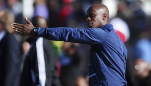 Mandla Ncikazi assistant coach of Maritzburg United during the Absa Premiership 2014/15 football match between Free State Stars and Maritzburg United at the Goble Park Stadium in Bethlehem , Free State Province on the 30th of August 2014 ©Sabelo Mngoma/BackpagePix