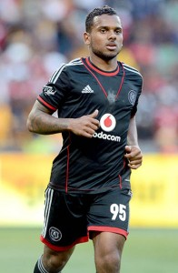 Kermit Erasmus of Orlando Pirates  during the Carling Black Label Cup match between Kaizer Chiefs and Orlando Pirates on the 27 July 2013 at FNB Stadium ©Sydney Mahlangu /BackpagePix