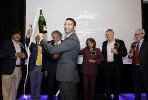 From left: Dr Hassen Adams (SunWest), Chris van Niekerk (Kenilworth Racing), Raymond van Niekerk (Investec), Etienne Cassuto (Mumm), Mme Mayor Patricia de Lille, Rob Collins (Sun International), Paul Scanlon (Pernod Ricard)